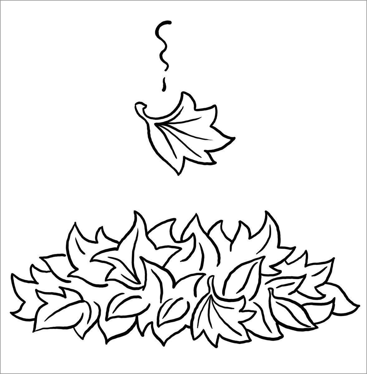 Fall Leaf Autumn Coloring Pages