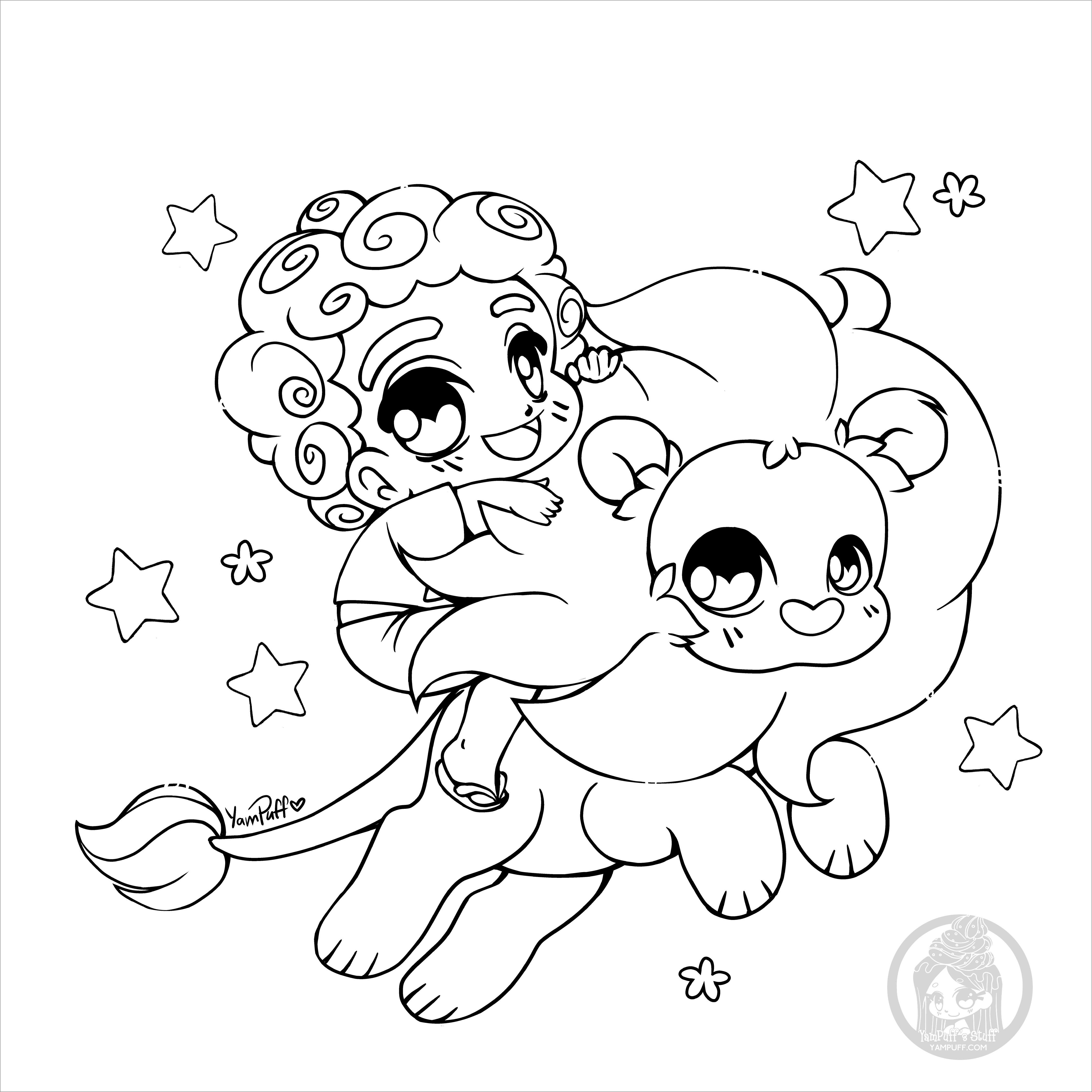 Fanart Chibi Coloring Page