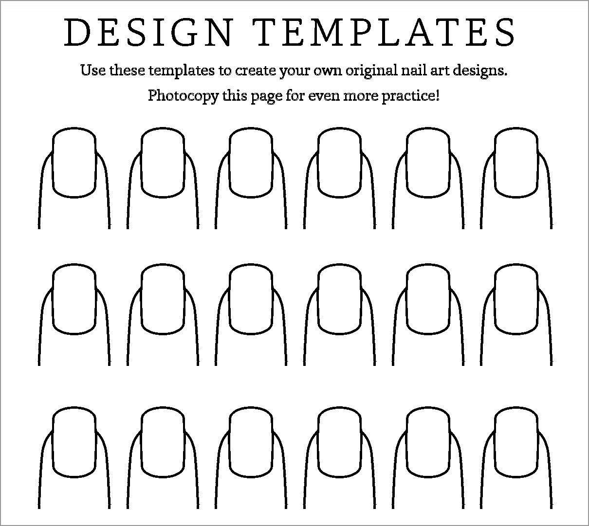 Fingernail Coloring Pages