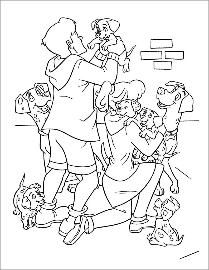 Free Printable 101 Dalmatians Coloring Pages