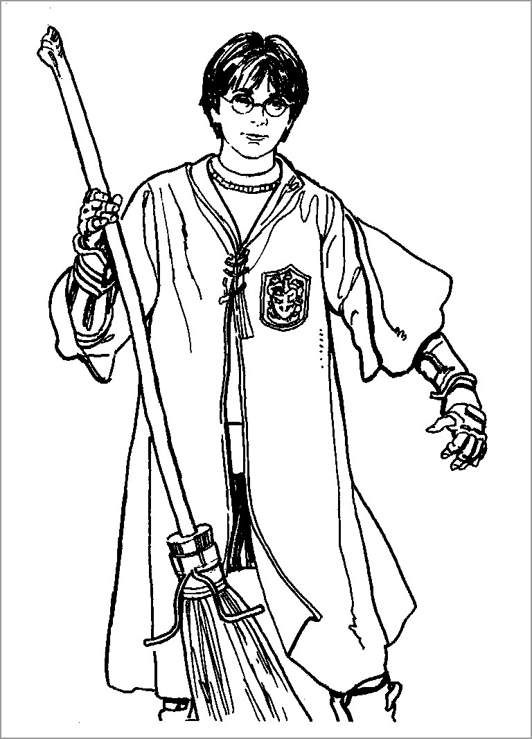 Free Printable Harry Potter Coloring Pages for Kids