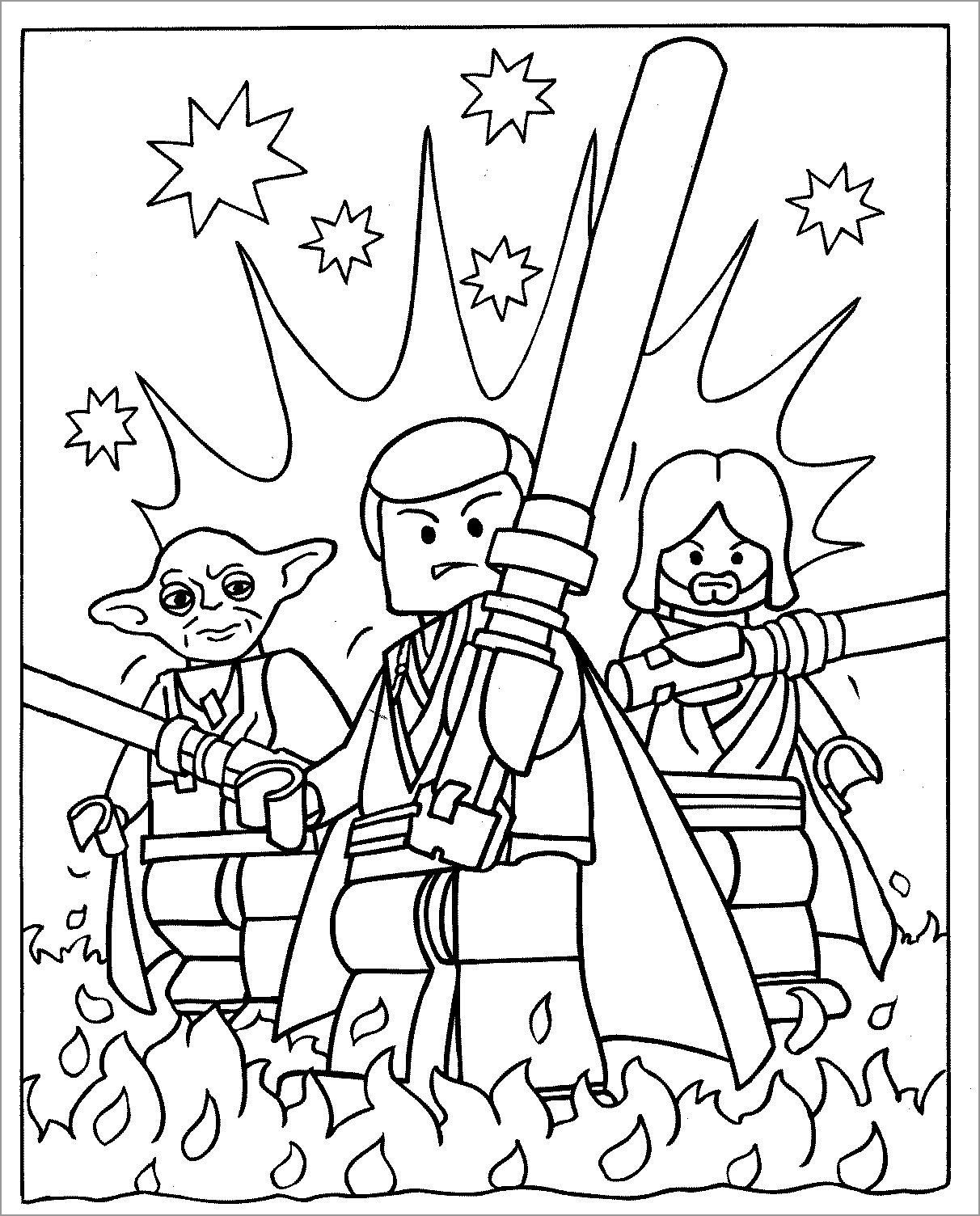 Free Printable Star Wars Lego Coloring Pages