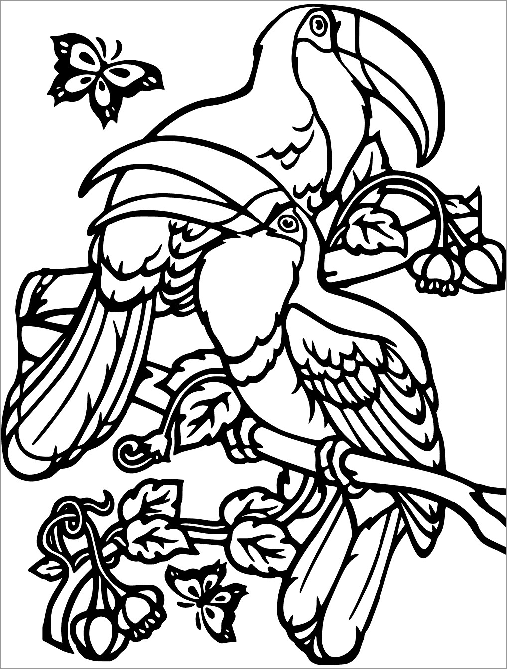 Free toucan Coloring Page
