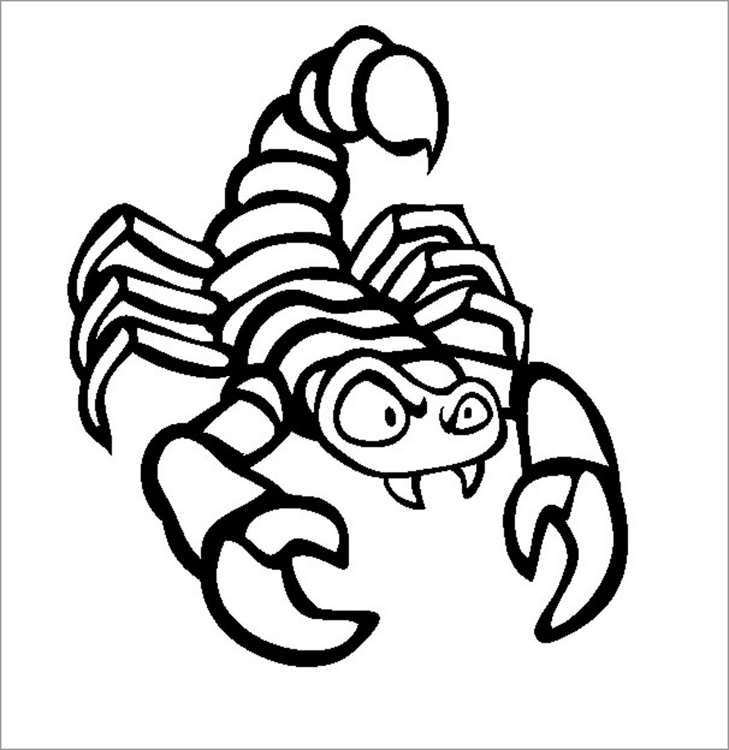 Funny Scorpio Coloring Page