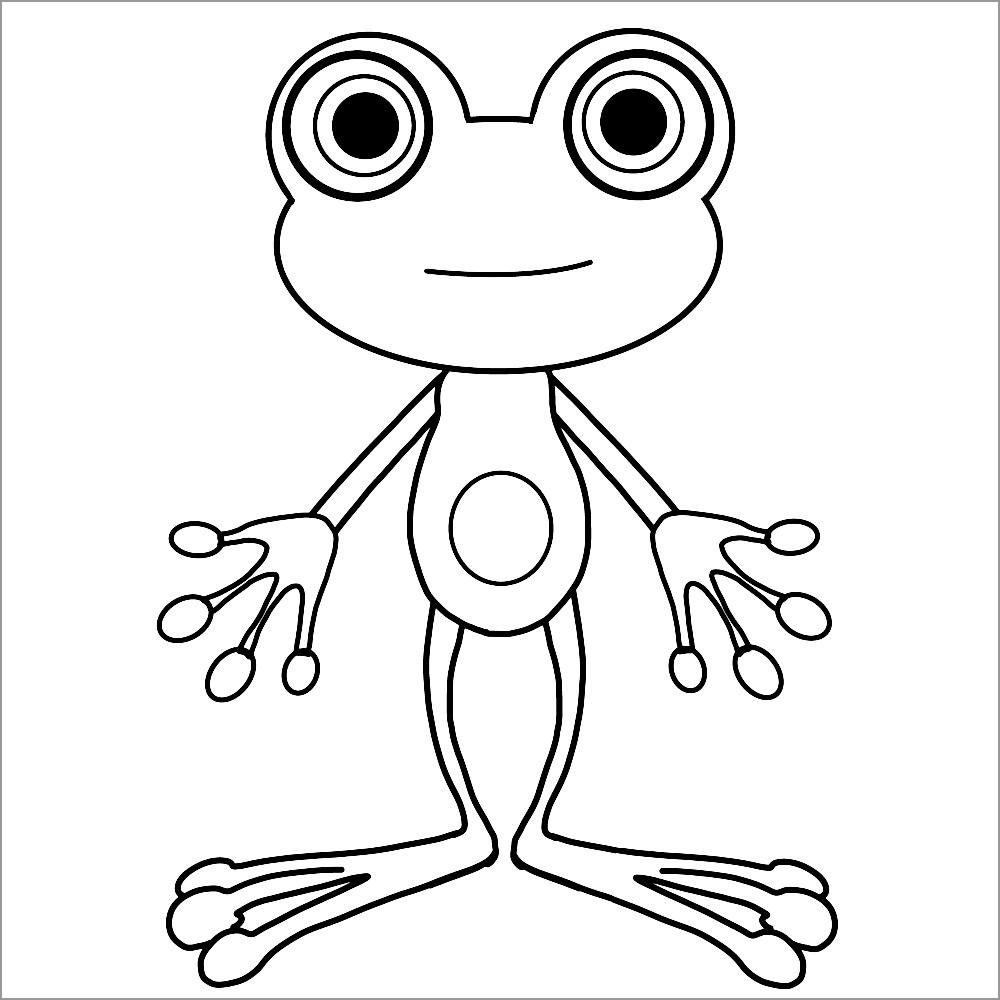Funny toads Coloring Page for Kids