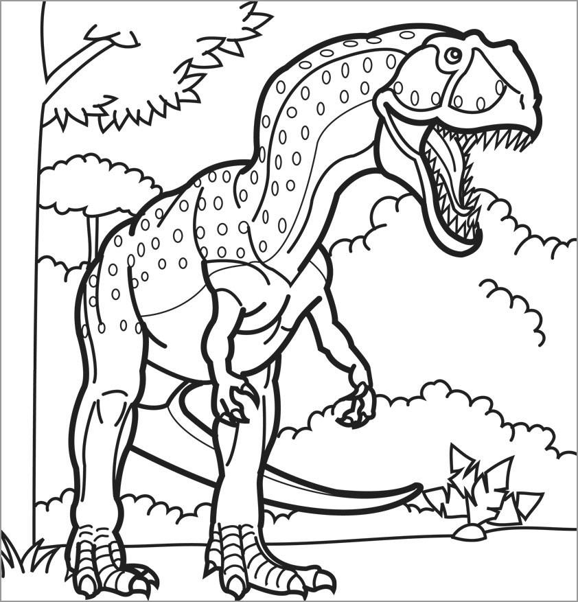 Giganotosaurus Dinosaurs Coloring Pages