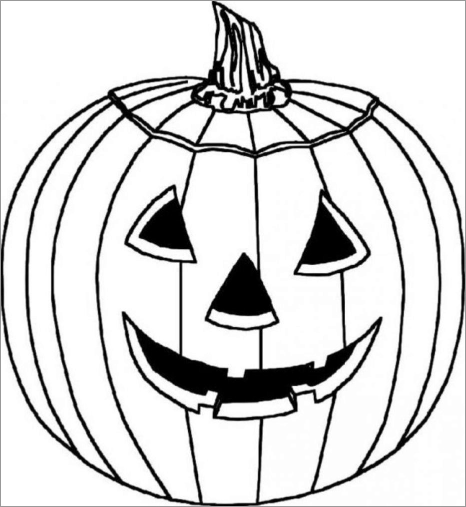 Halloween Pumpkin Coloring Pages for toddlers