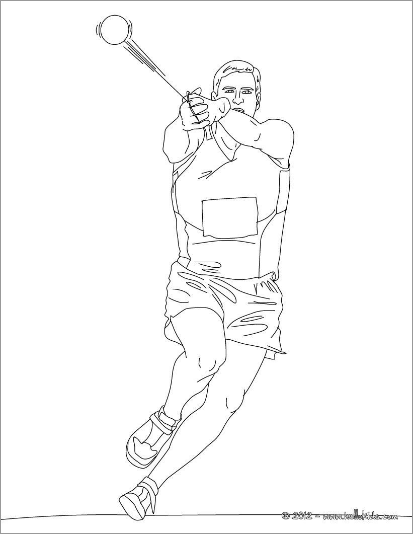 Hammer Throw athletics Coloring Page