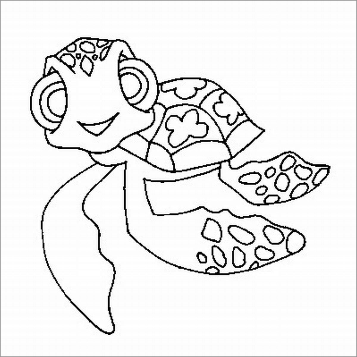 Hawaiian Greenea Turtle Coloring Page