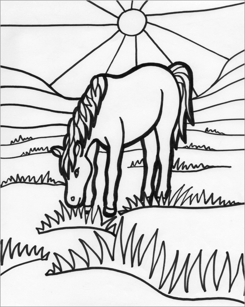 Horse Coloring Page Just Horse N Around