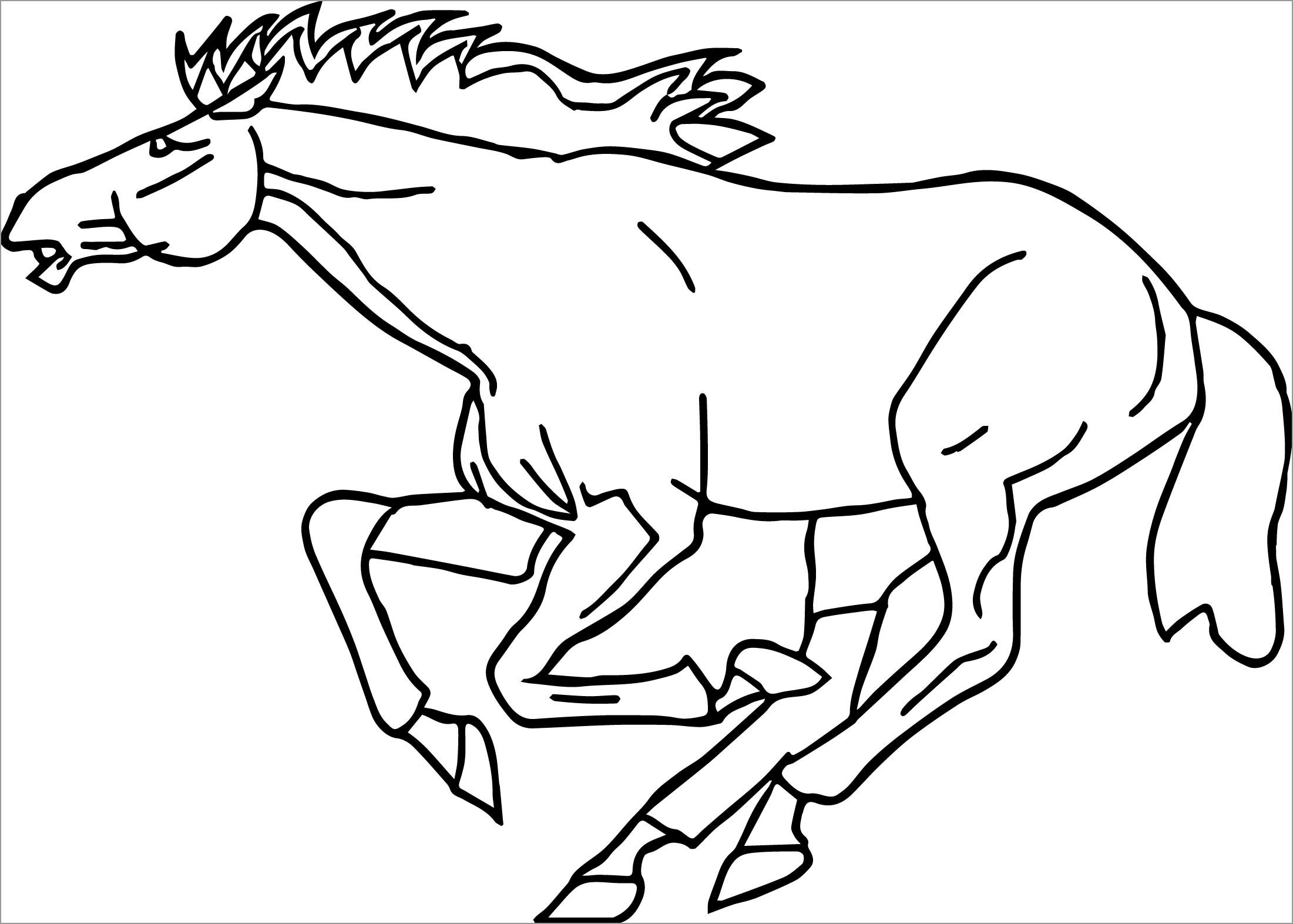 Horse Coloring Pages for Kids