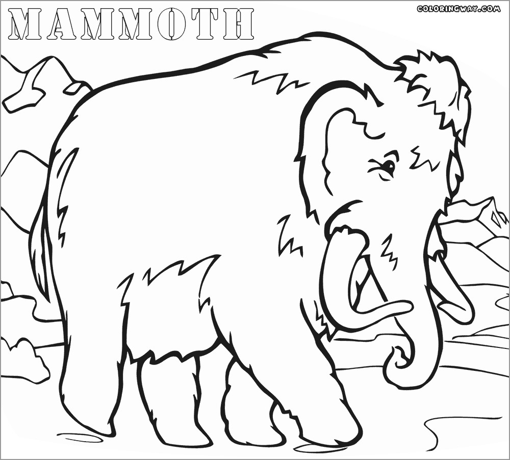 Ice Age Mammoth Coloring Page to Print