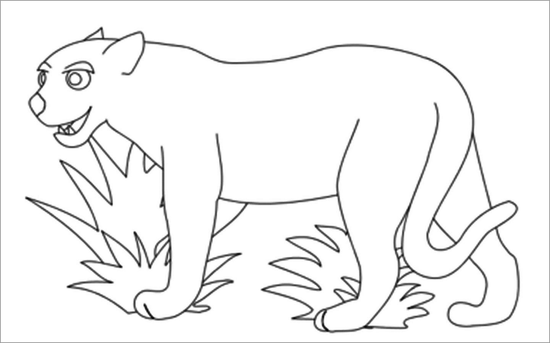 Jaguar Coloring Page for Kids