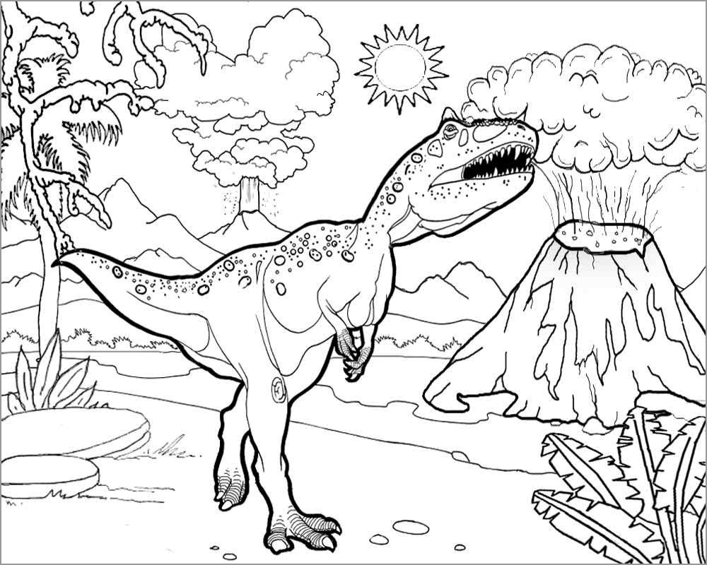 jurassic park coloring pages dilophosaurus Coloring4free ... | 800x1000