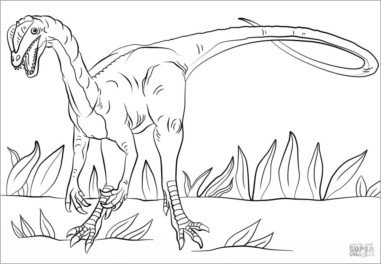 Luxury Jurassic Park Dilophosaurus Coloring Pages - Coloring Gratis | 824x1186