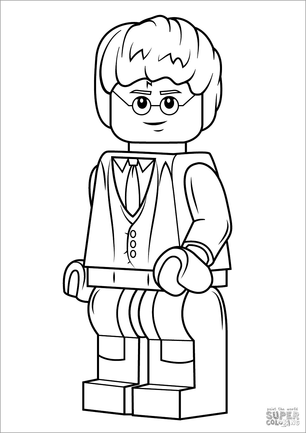 Lego Harry Potter Coloring Page - ColoringBay