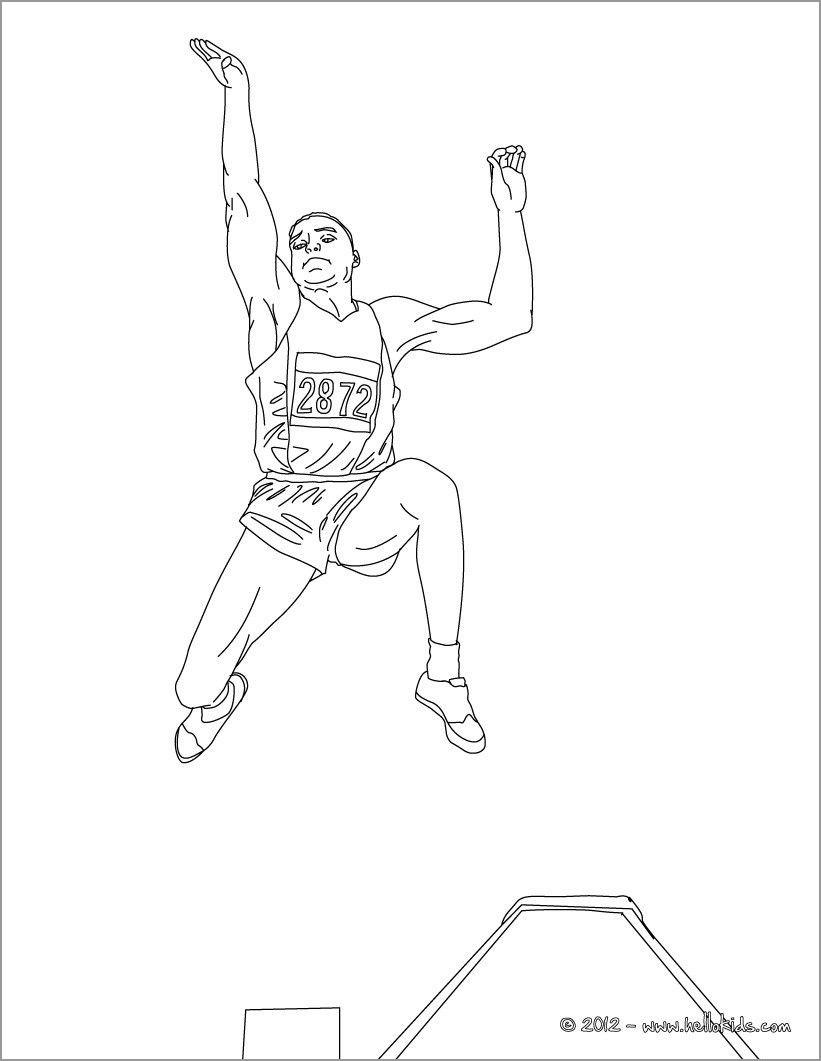 Long Jump athletics Coloring Page