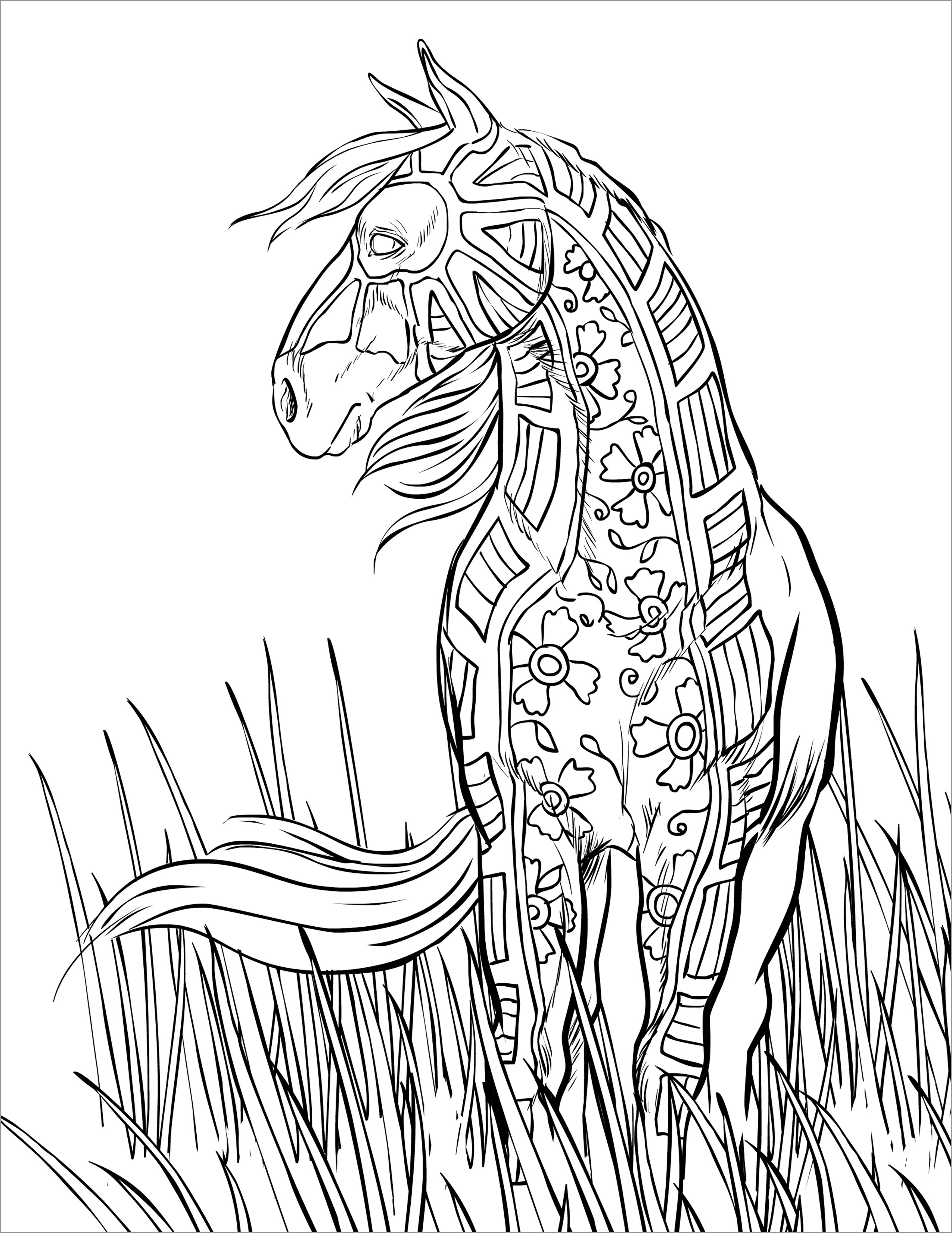 Mandala Horse Coloring Pages for Adults