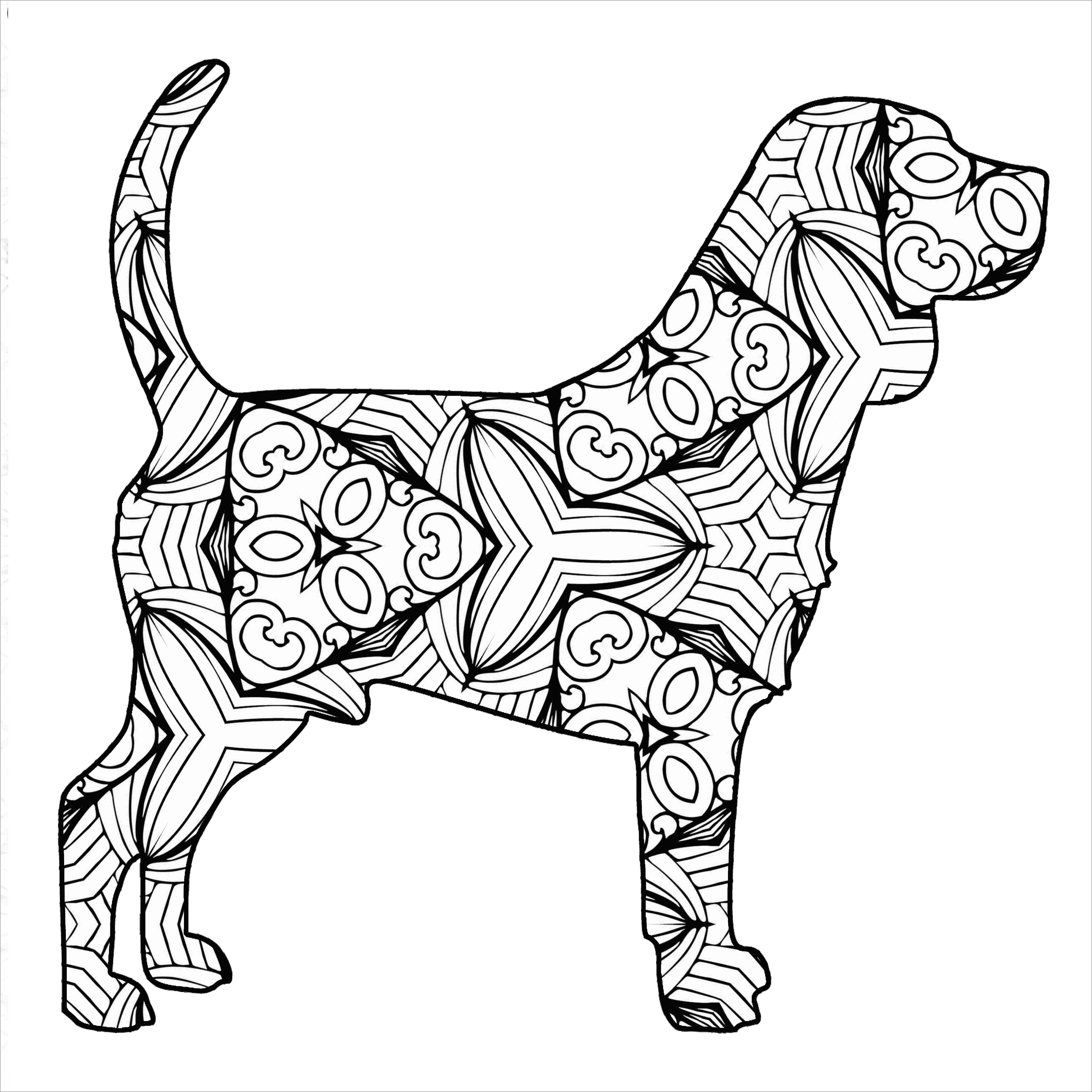 Mandala Labrador Coloring Page