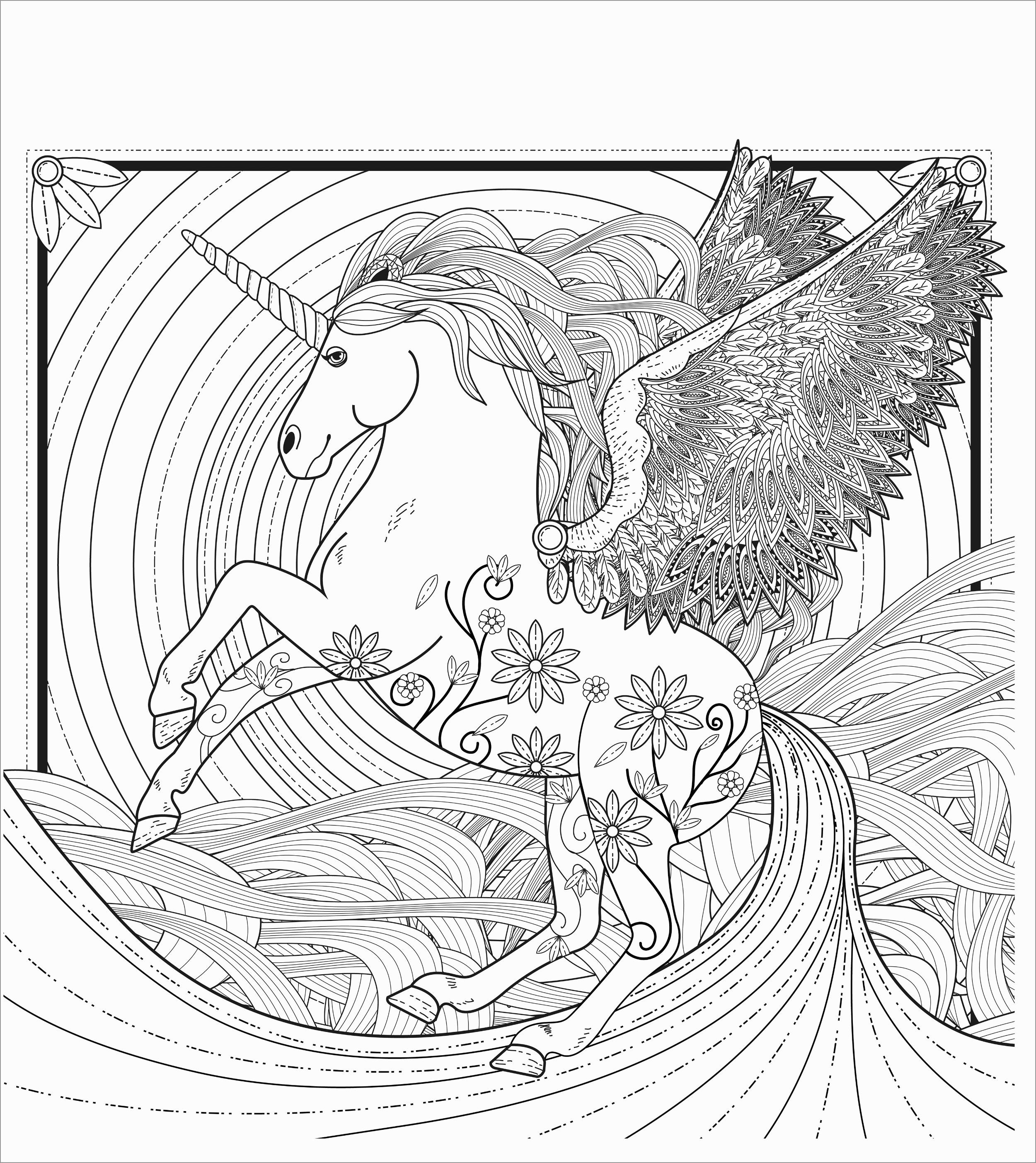 Mandala Unicorn Coloring Page for Adults