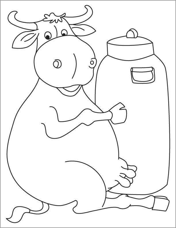Milkman Buffalo Coloring Page