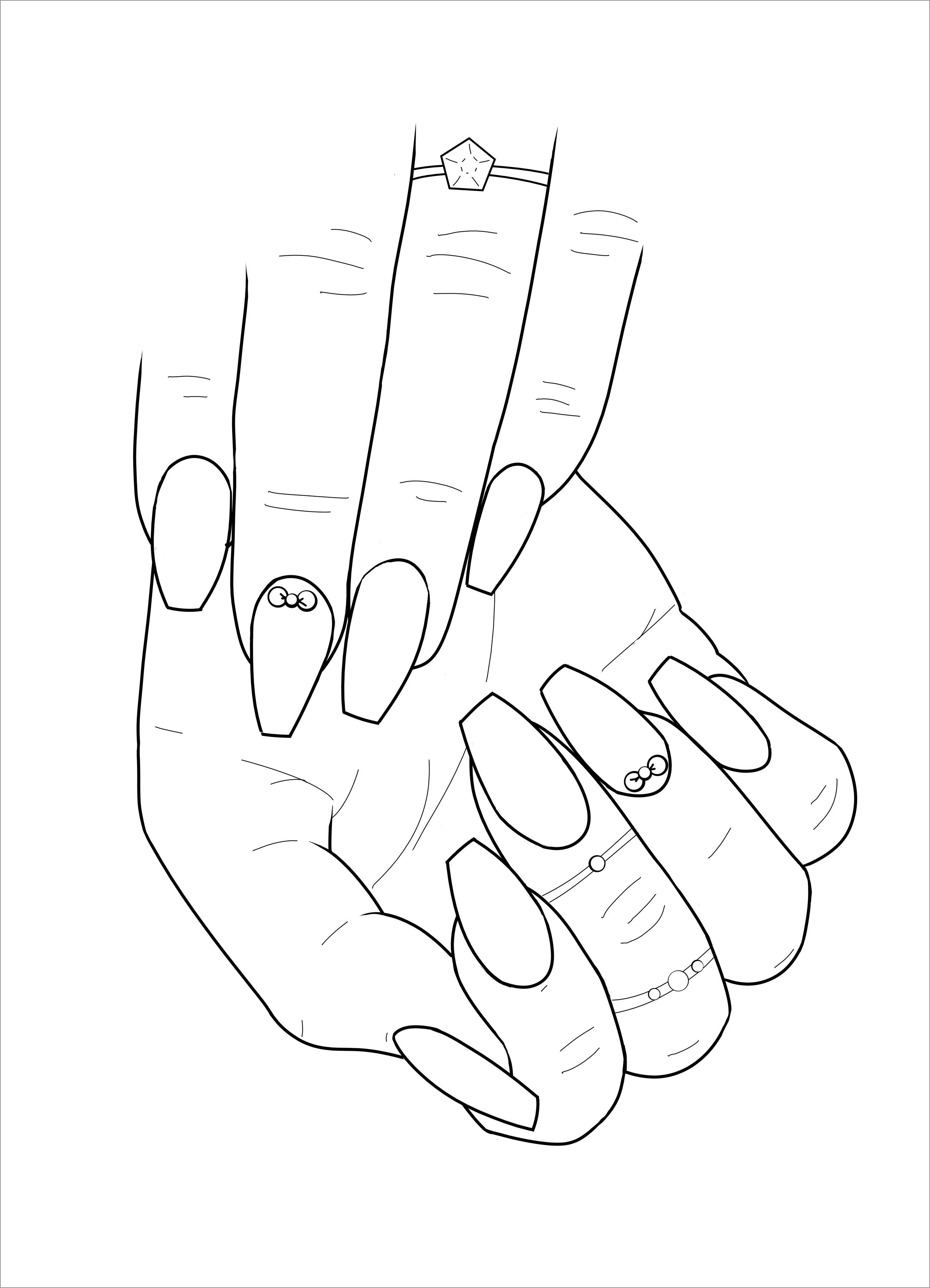 Nail Art Coloring Page