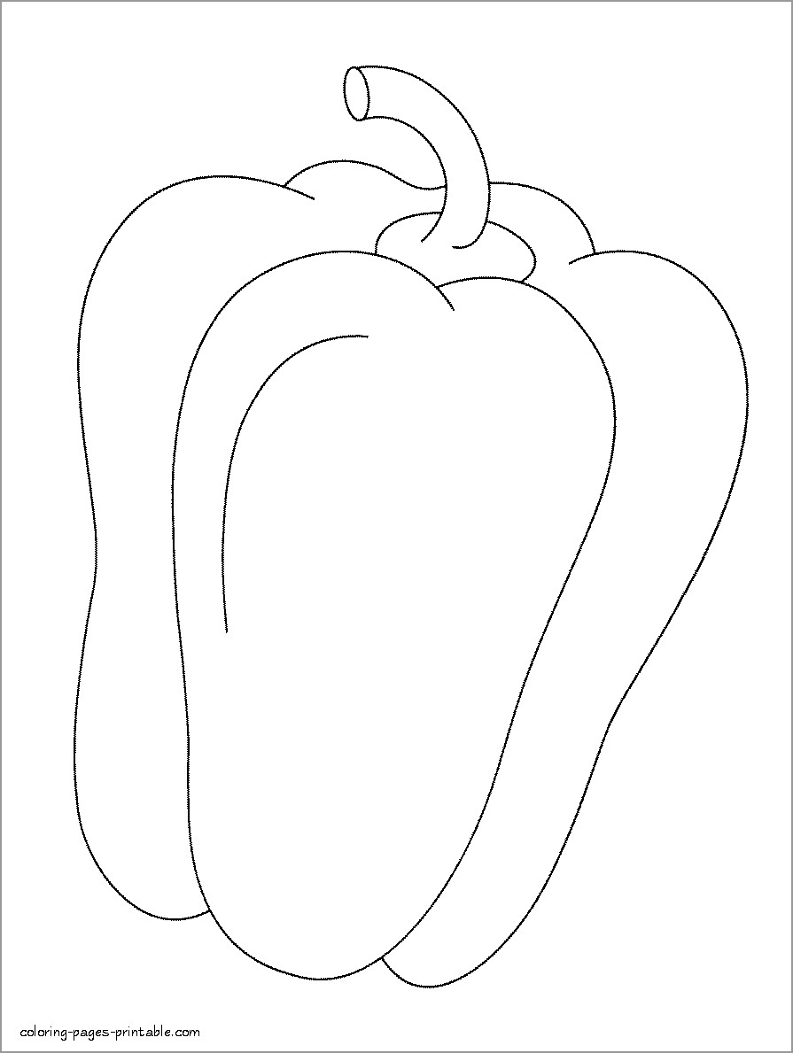 Pepper Coloring Page to Print