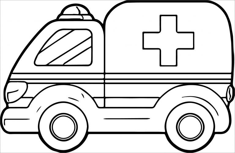 Pictures Of Ambulance Coloring Pages Coloringbay
