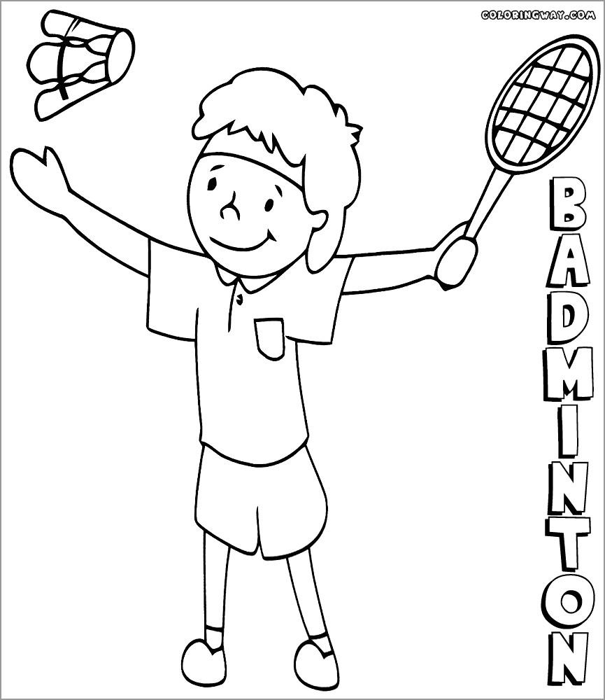 Printable Badminton Coloring Page