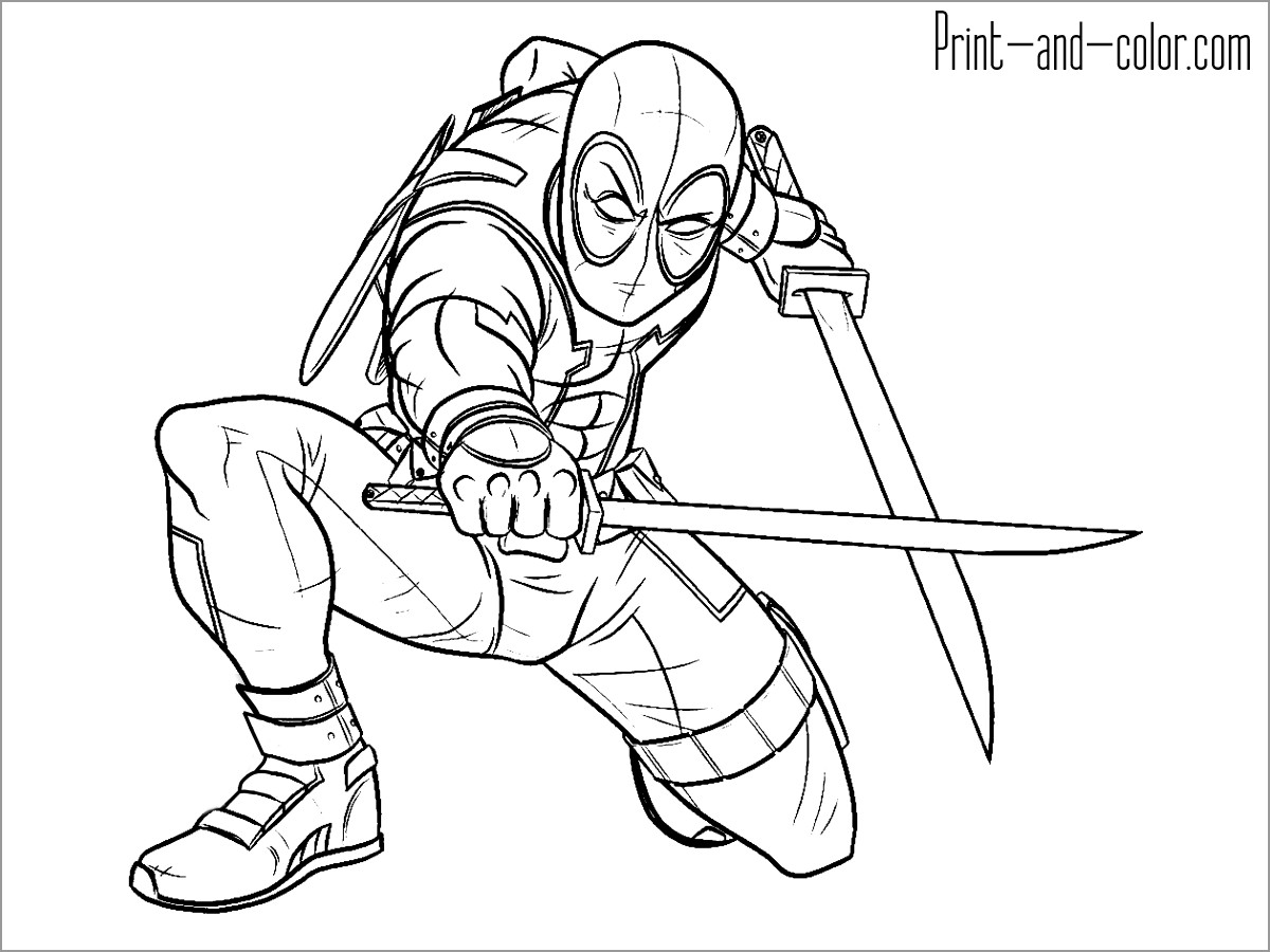 Deadpool Coloring Pages - ColoringBay