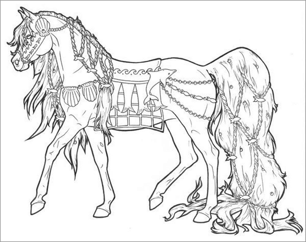 Printable Horse Coloring Pages for Adults
