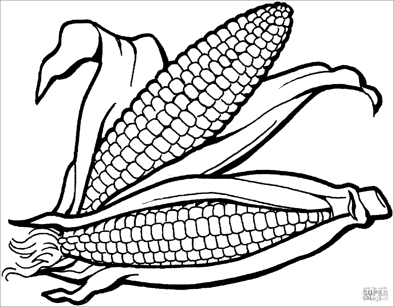 Printable Maize Coloring Page for Kids