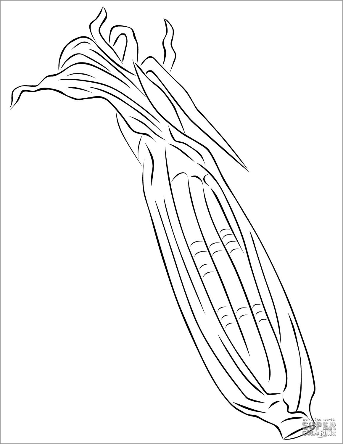 Printable Maize Coloring Page