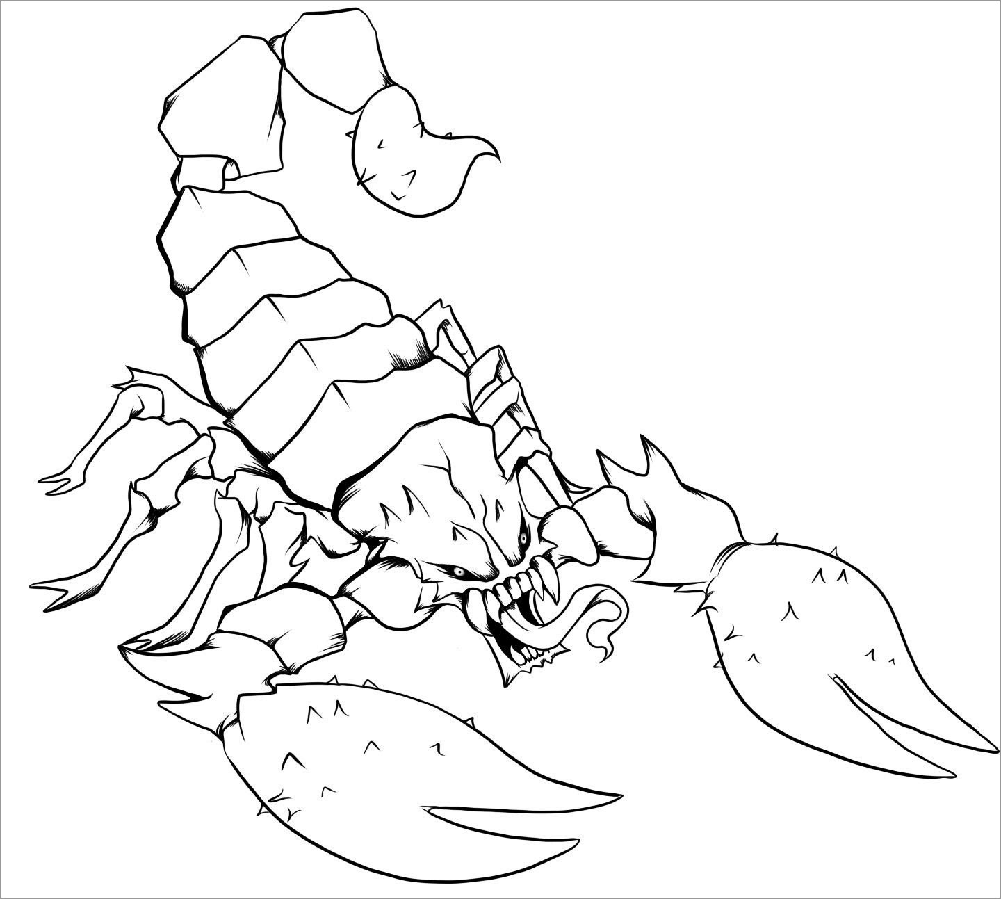 Printable Scorpio Coloring Pages for Kids