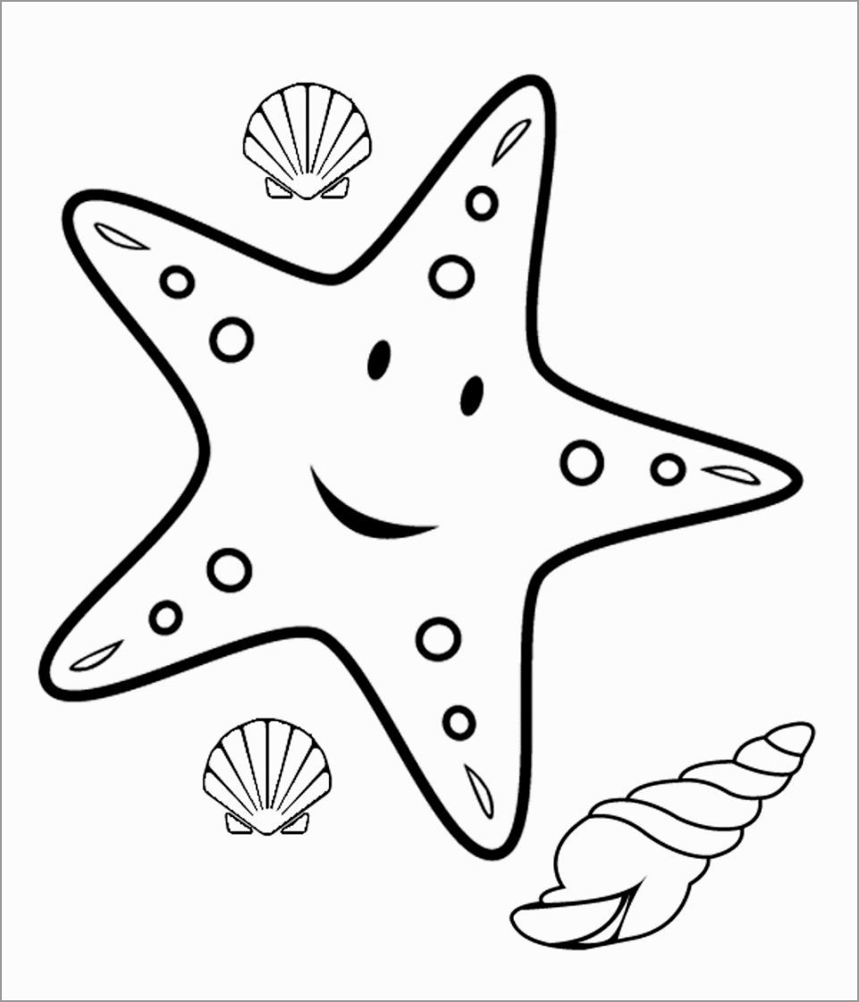 Printable Starfish Coloring Pages