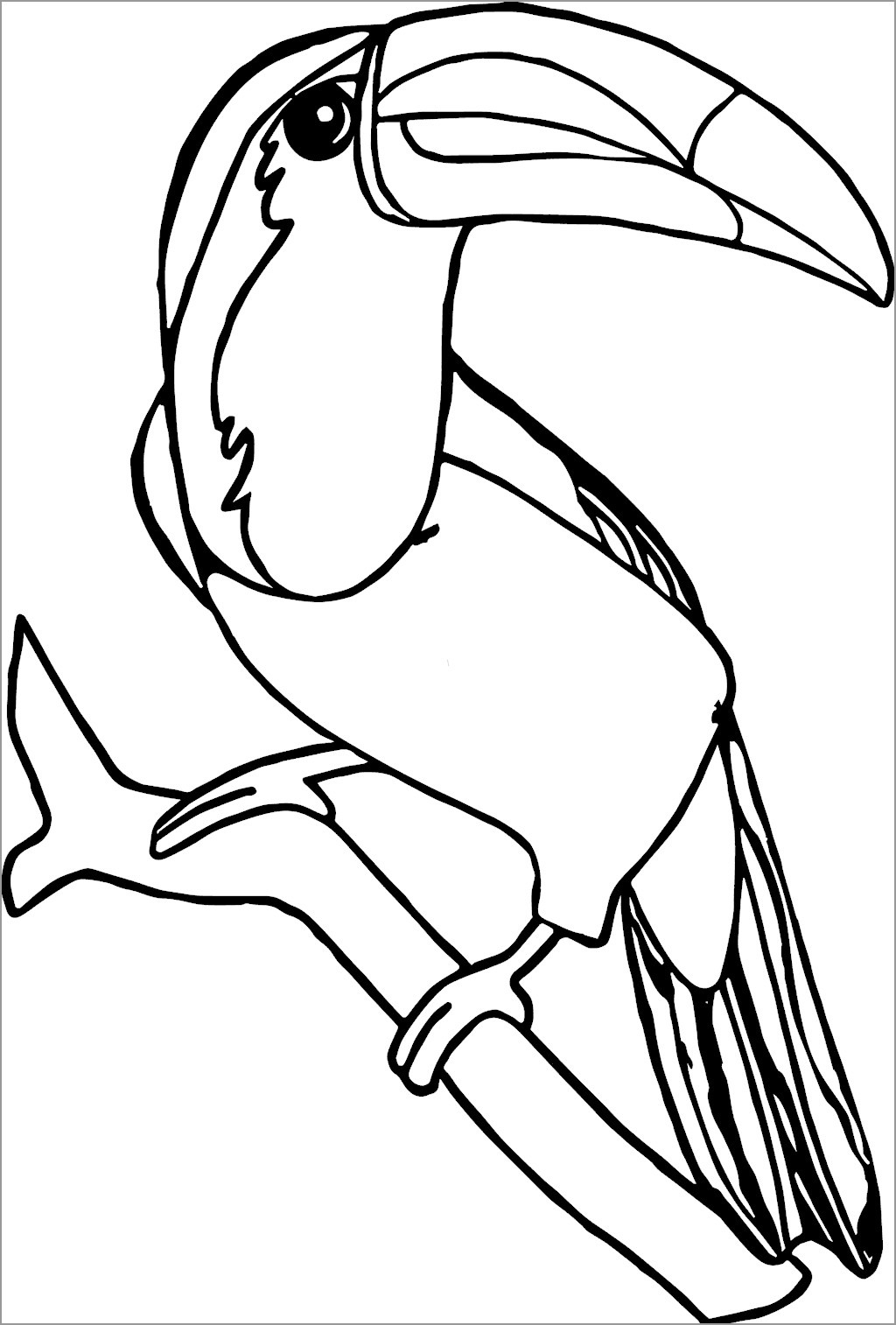 Printable toucan Coloring Page