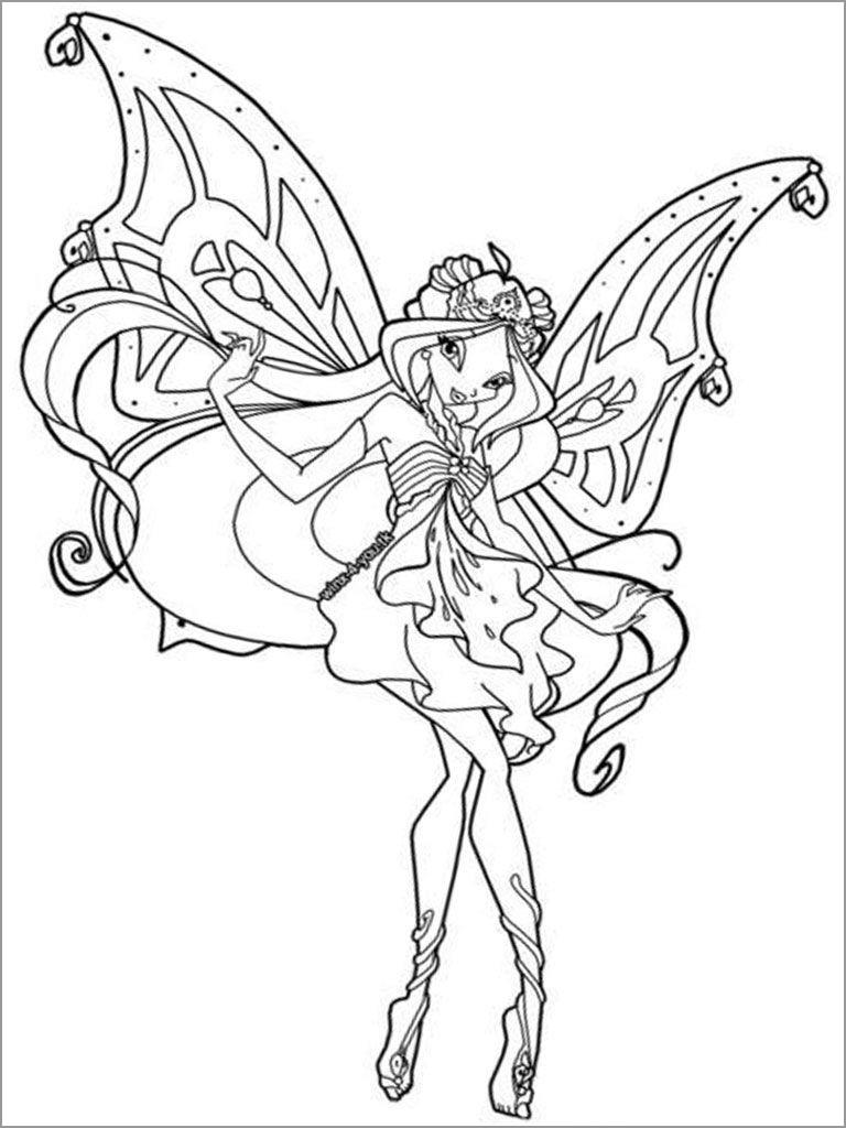 Printable Winx Club Coloring Page