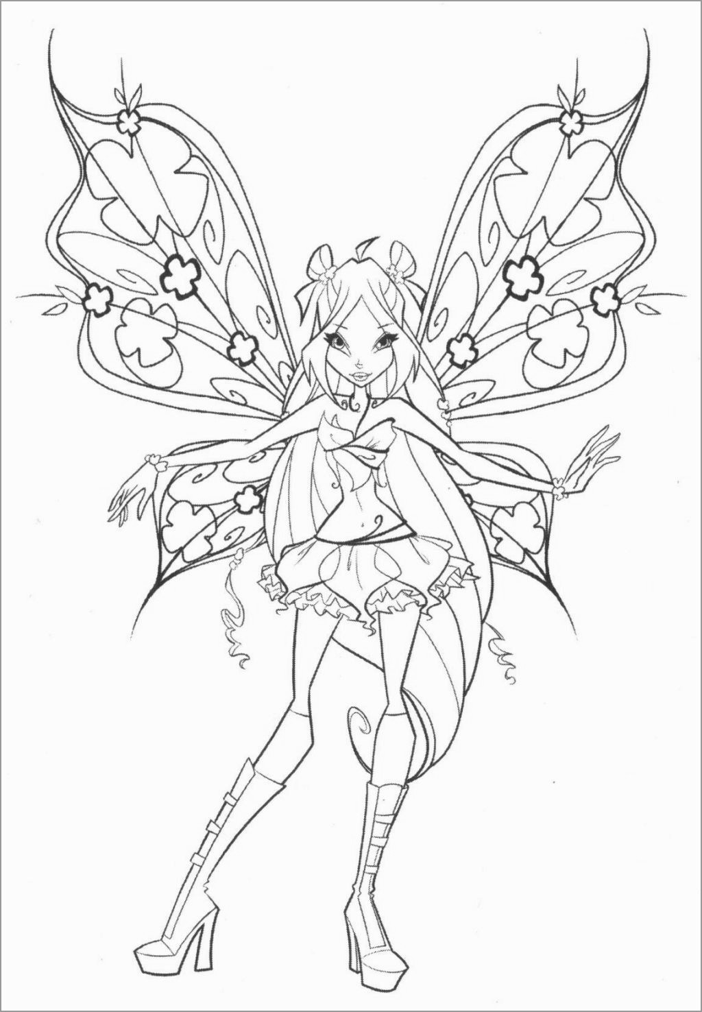 Printable Winx Coloring Coloring Page