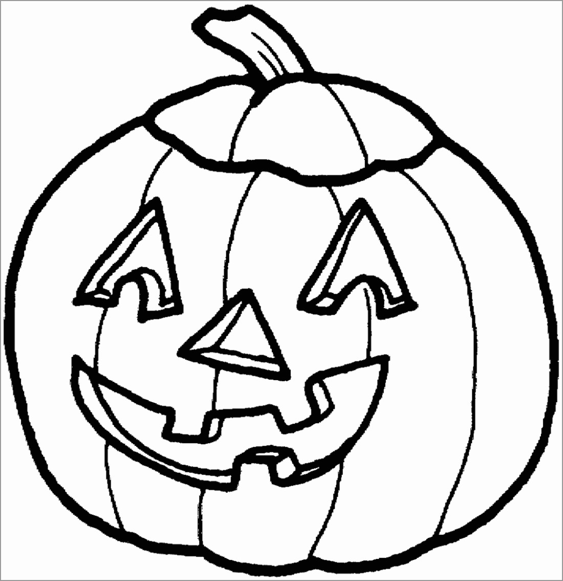 Pumpkin Halloween Coloring Pages for Kids