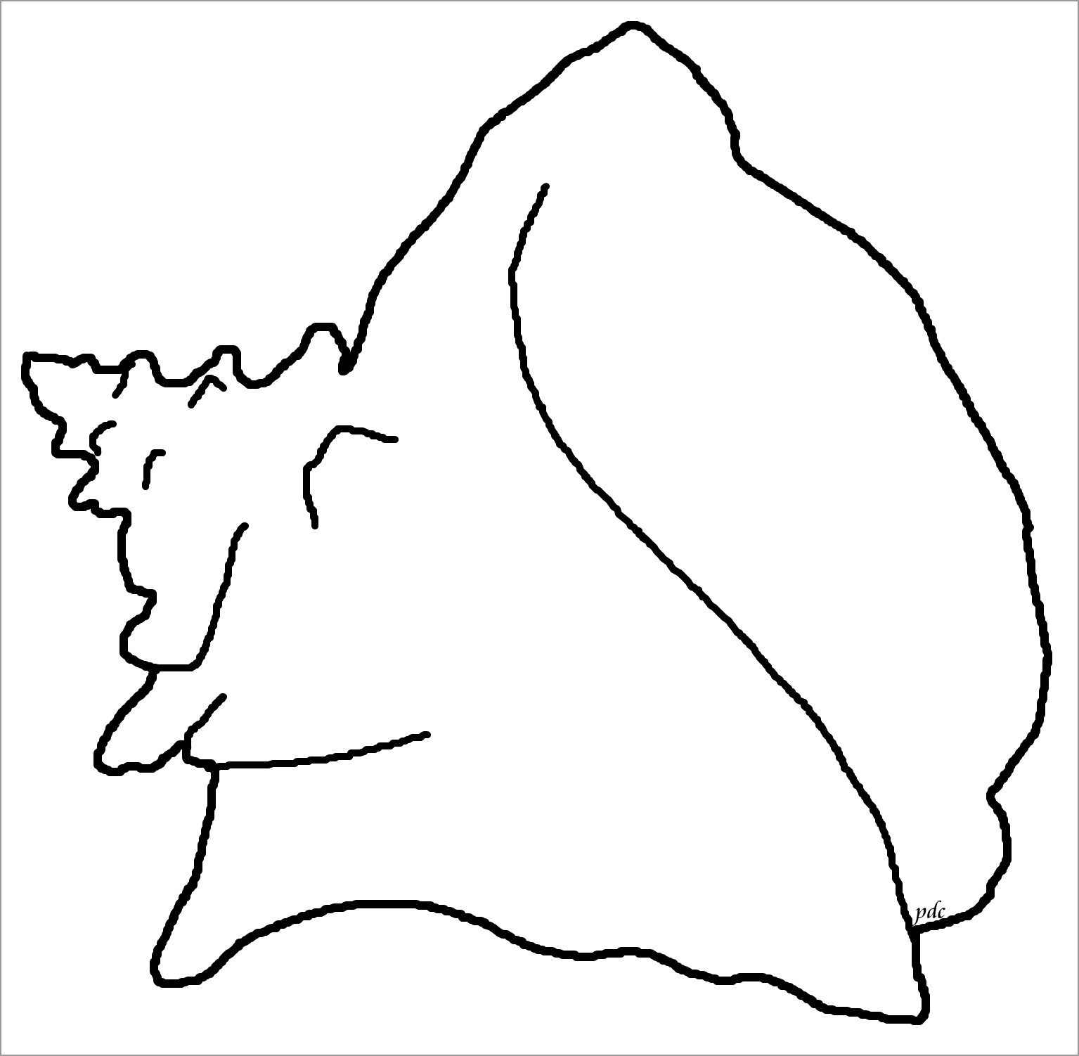 Queen or Pink Conch Coloring Page for Kids