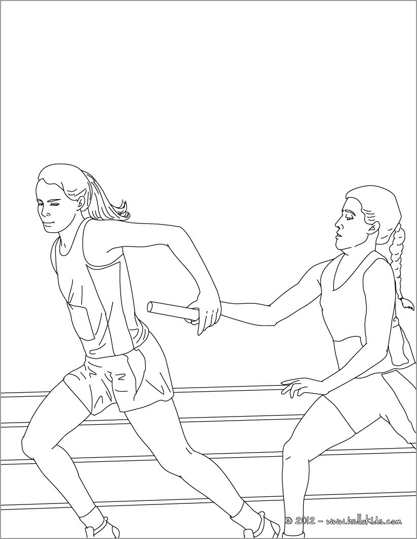 Relay athletics Coloring Pages