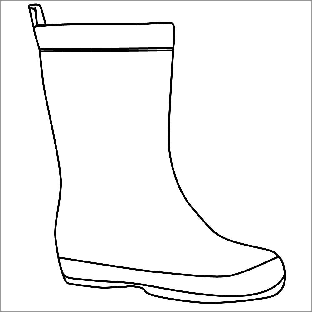 Rubber Boots Coloring Page