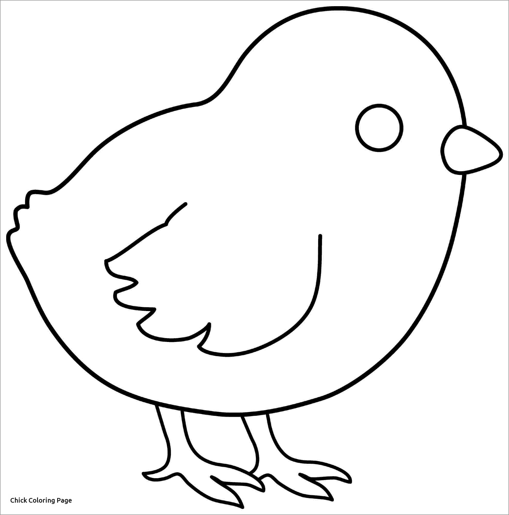 Baby Chick Coloring Pages - GetColoringPages.com | 2000x1976