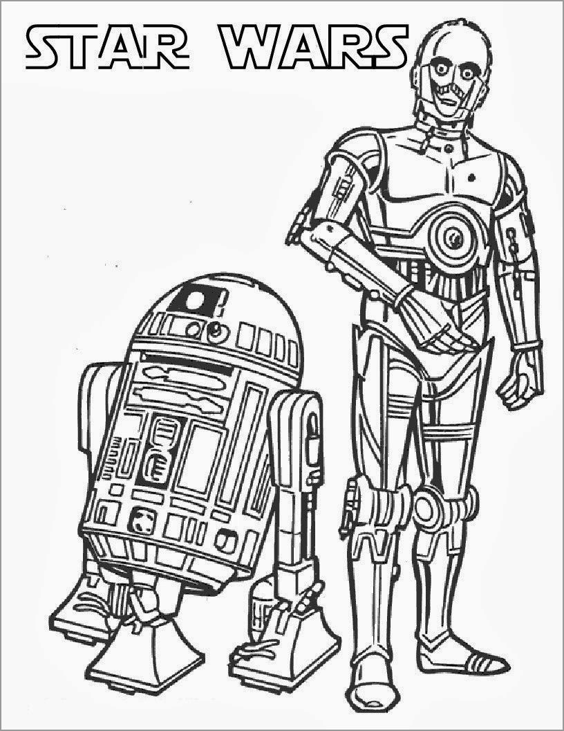 Star Wars Coloring Page R2-d2 Robot