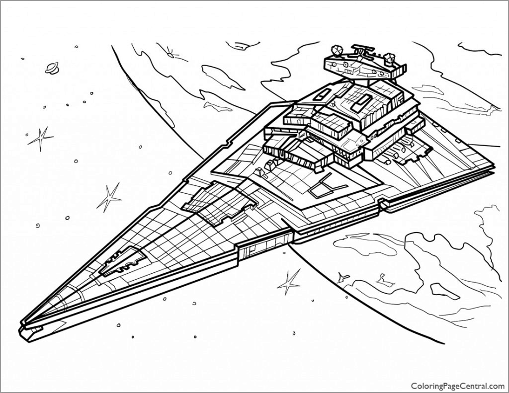 Star Wars Coloring Page Star Destroyer