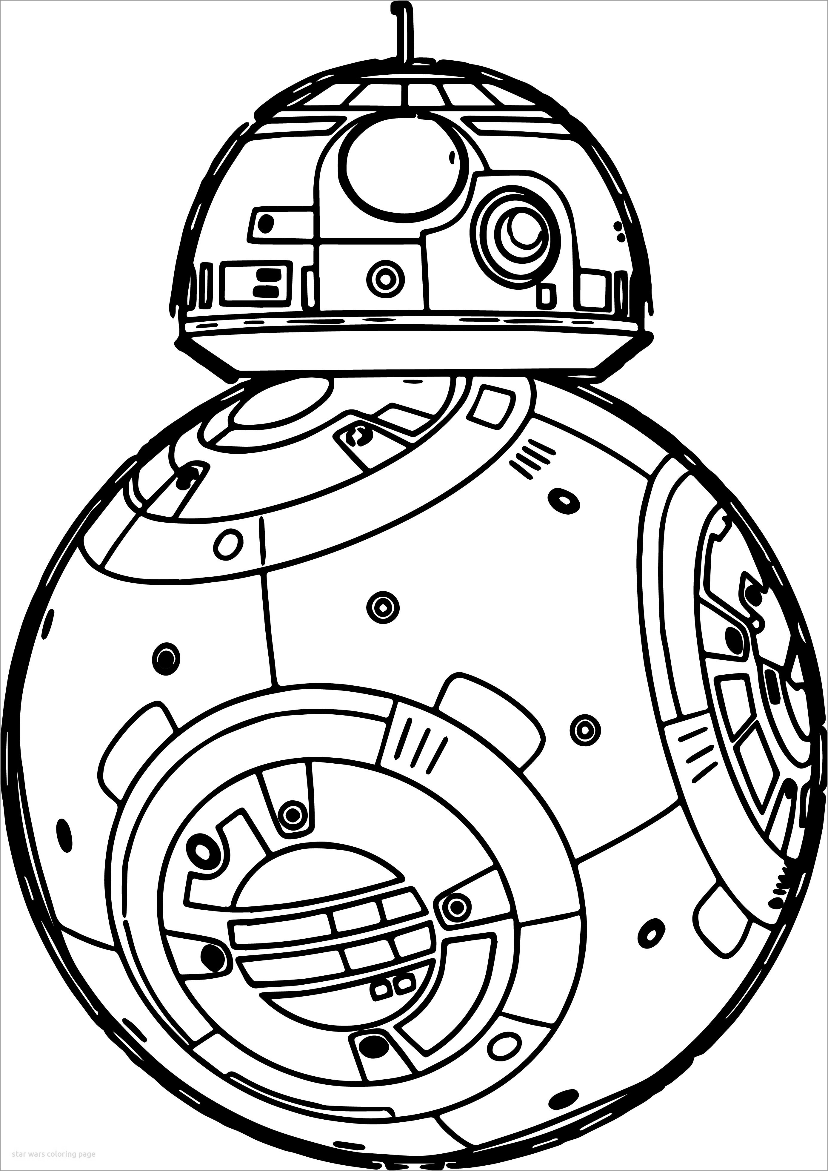 Star Wars Coloring Page the force Awakens Bb-8 Robot