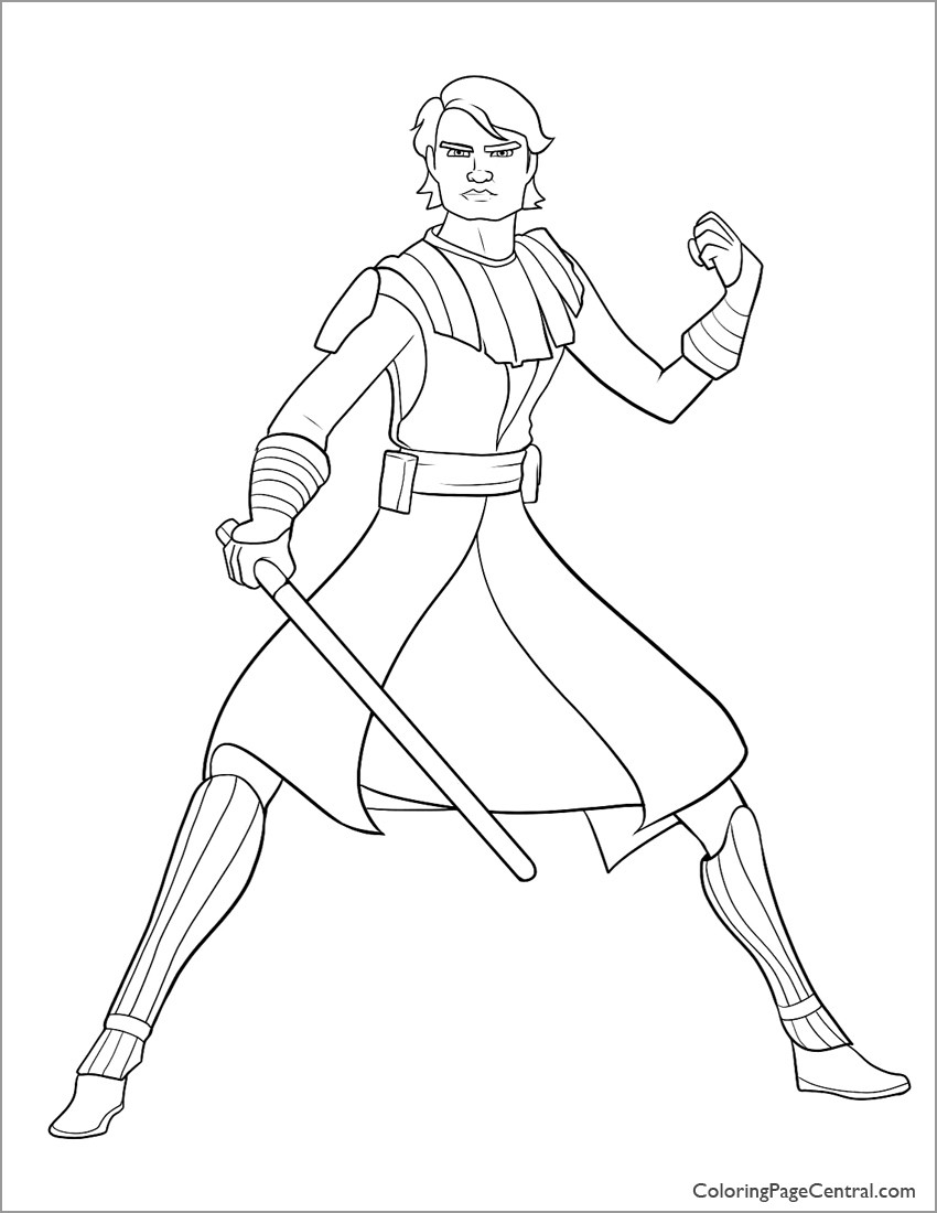 Star Wars Coloring Pages Anakin Skywalker