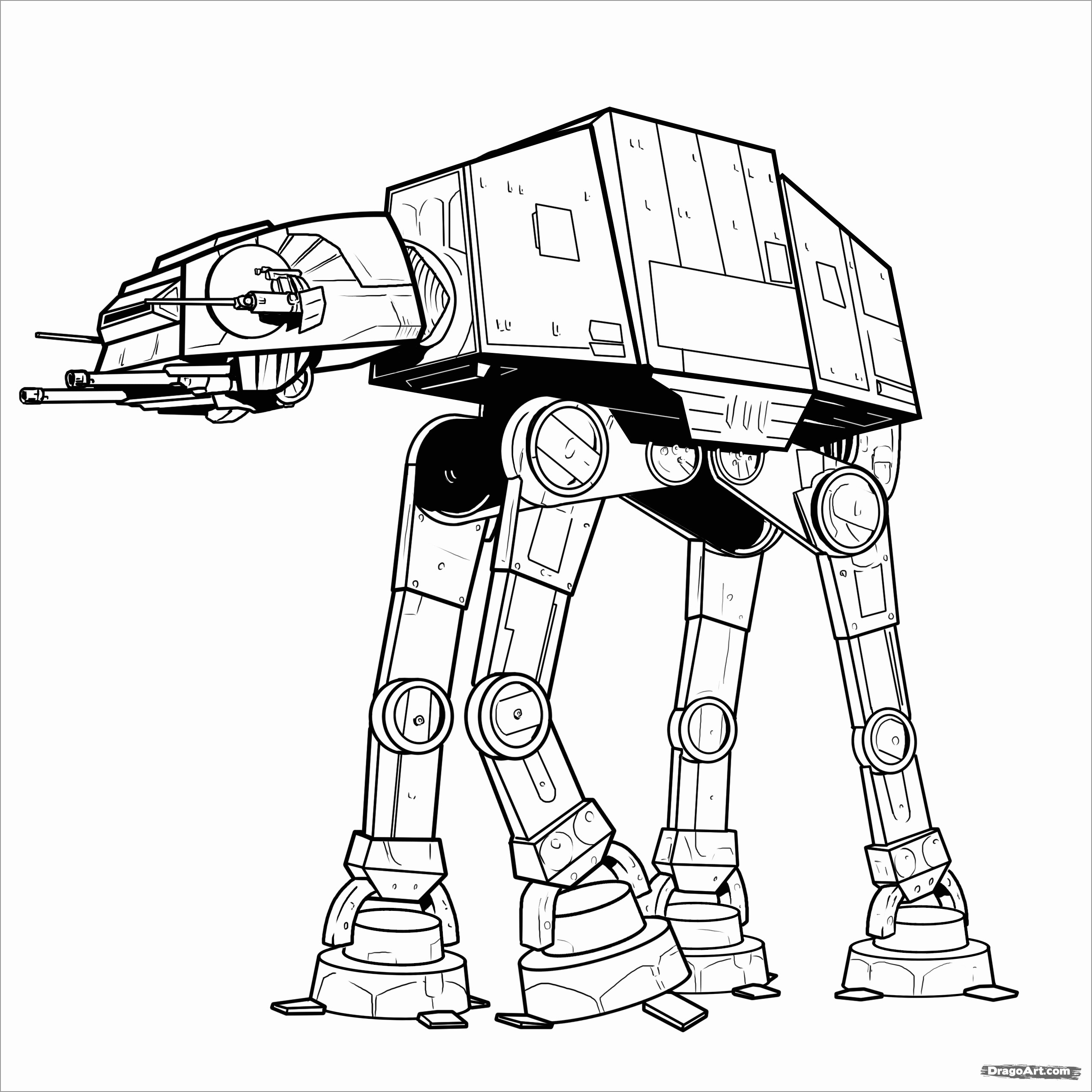 Star Wars Coloring Pages at-at - ColoringBay