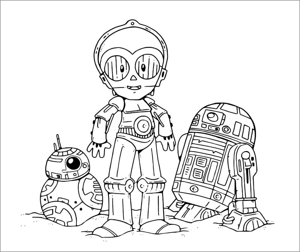 Star Wars Coloring Pages Robot
