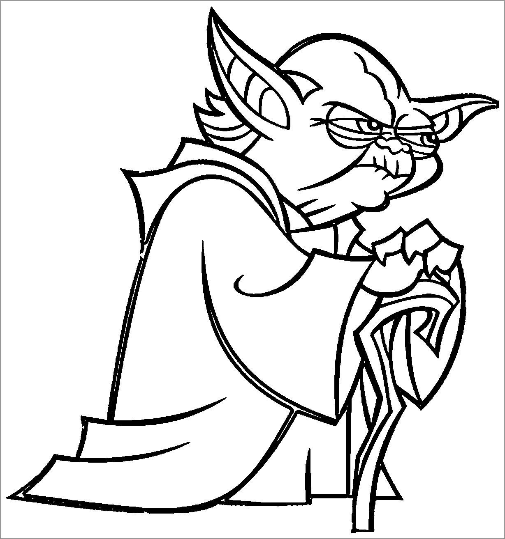 Star Wars Coloring Pages Yoda Coloringbay